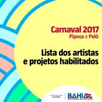 SecultBA divulga resultado dos habilitados no Carnaval Pelourinho e Pipoca 2017
