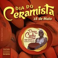 Dona Cadu estampa homenagem ao Dia do Ceramista