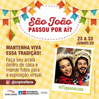 """O projeto """"São João passou por aí? Mantenha Viva essa tradição!"""" será promovido no instagram @ccpicultura"""
