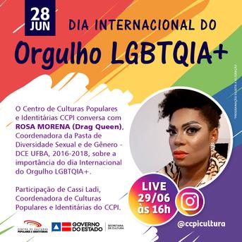 Evento acontece segunda-feira (29), às 16h, no Instagram @ccpicultura